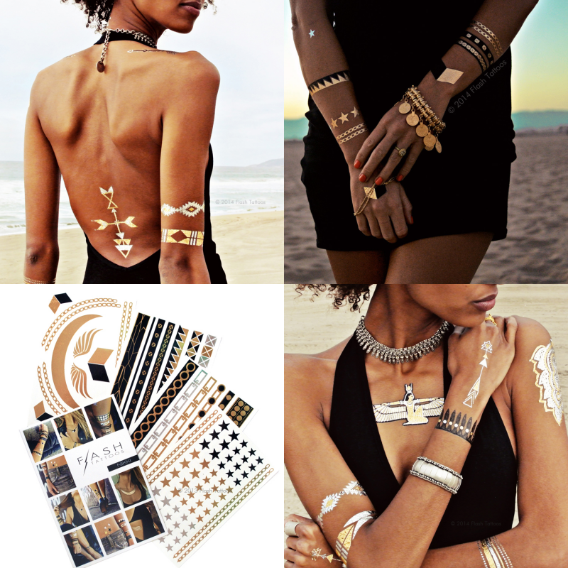 Images courtesy of Flash Tattoos - 'Child of Wild' & 'Nikki' collections