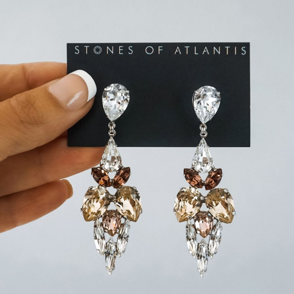 Stones Of Atlantis Drop Earrings